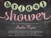 Product Image For Bridal Shower in Chalk Digital Invitation